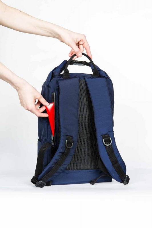 Компактный городской рюкзак CODE: UNIK 18 л без органайзера (синий)