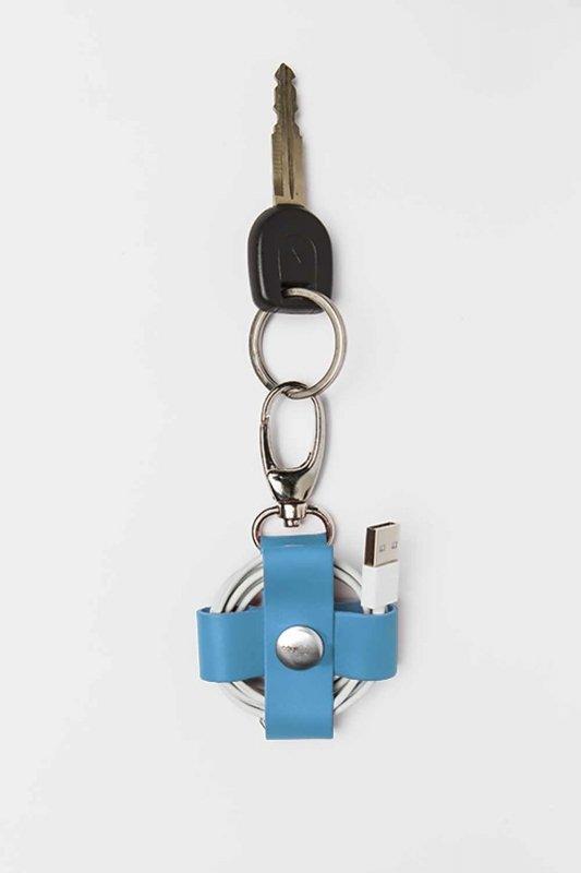 Голубой холдер с карабином