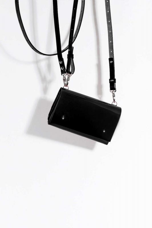 Сумка CODE: UNIK Mini «Чёрный Лак»